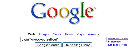 idiom search example